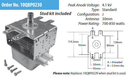 10QBP0230 ERP Microwave Oven Magnetron