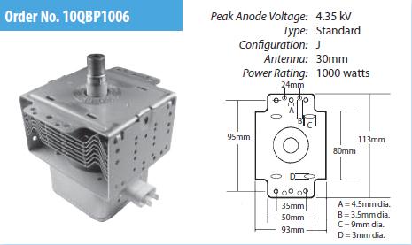 10QBP1006 Microwave Oven Magnetron