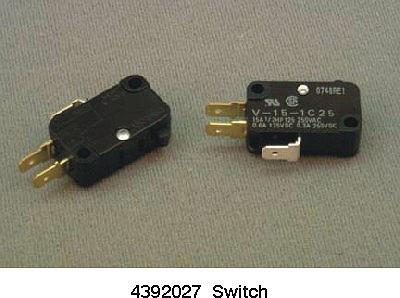 4392027 Whirlpool Microwave Oven Door Switch Kit