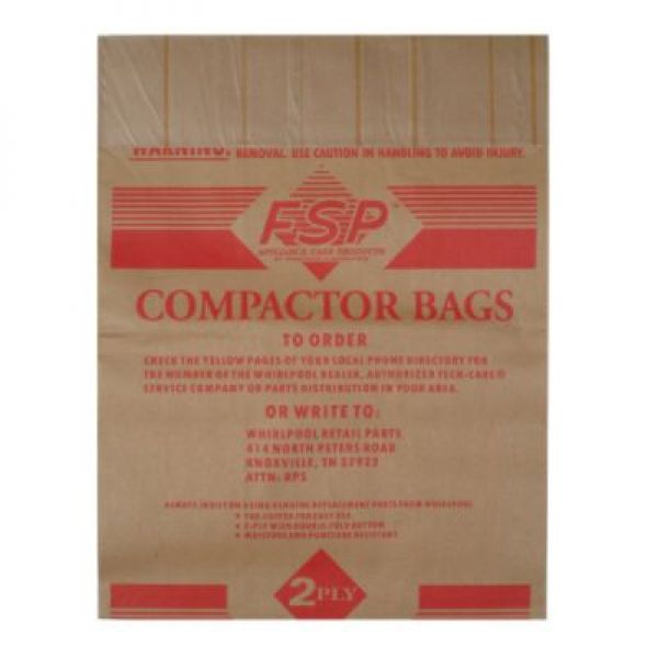 675186 Whirlpool Trash Compactor Bags 12 Pack