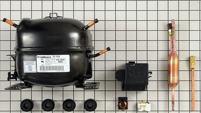 7014067 Sub Zero Compressor Assy Em65nr R12 Svce