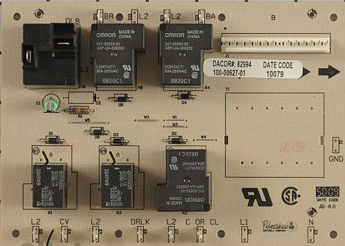 82994 Dacor Range Oven Relay PCB Board RFR
