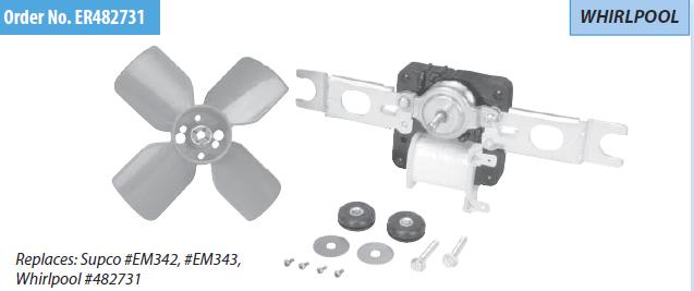 Er482731 Refrigerator Evaporator Fan Motor Whirlpool 482731