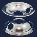 "W10196406RW Whirlpool 6"" Drip Pan Chrome"