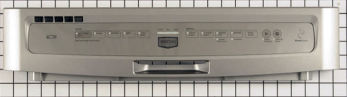 W10199787 Maytag Dishwasher Control Panel Stainless Steel