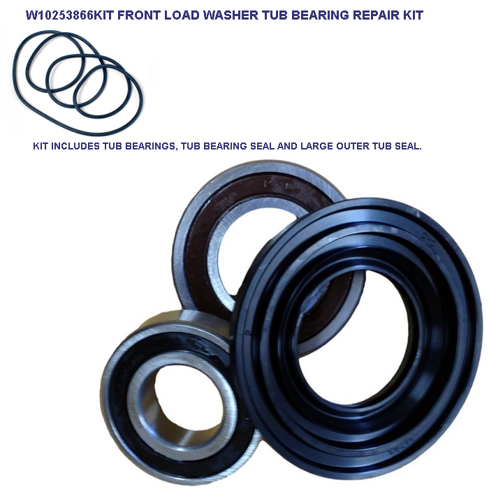 W10253866kit Sears Kenmore Front Load Washer Tub Repair Kit