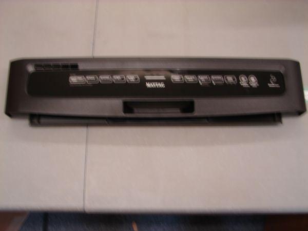 W10356466 Maytag Dishwasher Control Panel Black