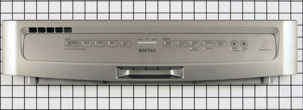 W10811151 Maytag Dishwasher Control Panel Silver
