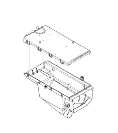 W10364594 Whirlpool Maytag Washer Detergent Dispenser Body