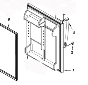 W10806512 Whirlpool Refrigerator Door Handle Stainless Steel