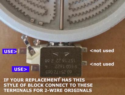 W10823693 Jenn-Air A122B Radiant Cartridge Element Large