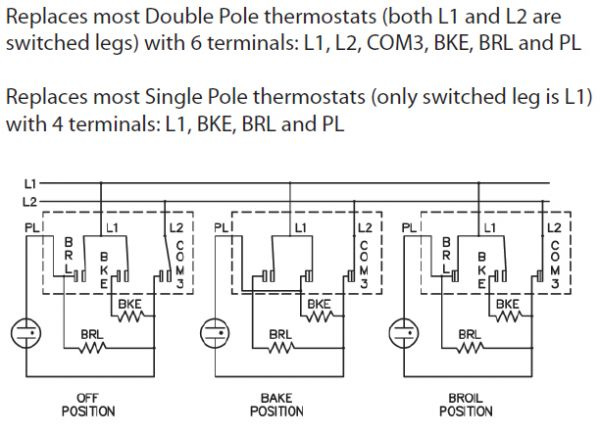 Electric Oven Thermostat Wiring Diagram ~ Er s erp universal electric oven thermostat