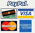 We accept credit cards and paypal